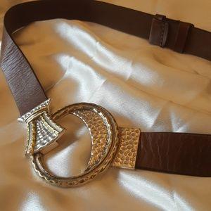 Chico's Adjustable Leather Belt New